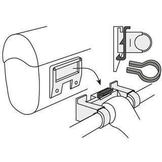 Vaude Klick Fix System for Handle Bar Bags, black - Zubehör