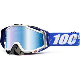 100% Racecraft inkl. Wechselscheibe, cobalt blue/Lens: mirror blue - MX Brille