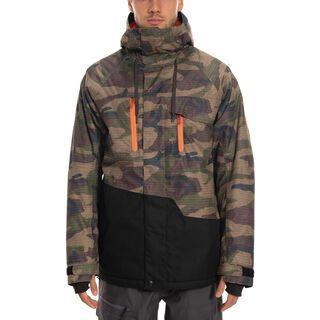 686 Geo Insulated Jacket, dark camo colorblock - Snowboardjacke