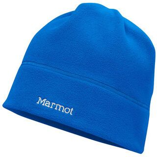 Marmot Power Fleece Beanie, Cobalt Blue/White - Mütze