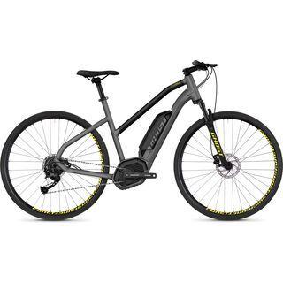 Ghost Hybride Square Cross B2.9 W AL 2018, gray/black/neon yellow - E-Bike