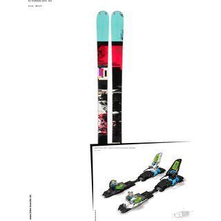 K2 SKI Set: Domain 2014 + Marker Squire Schizo 11