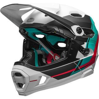 Bell Super DH MIPS, white/emerald/hibiscus - Fahrradhelm