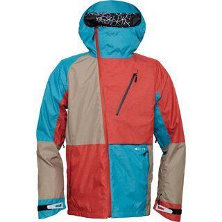 686 Glacier Hydra Thermagraph Jacket, Brick Heather Twill Colorblock - Snowboardjacke
