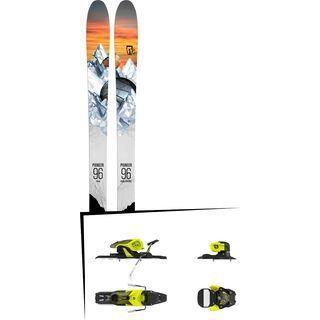 Set: Icelantic Pioneer 96 2018 + Salomon Warden 11 yellow/black