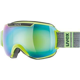 uvex downhill 2000 FM, lime-grey mat/Lens: mirror green - Skibrille