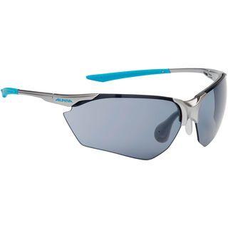 Alpina Splinter HR C+, titan-cyan/Lens: ceramic+ black - Sportbrille