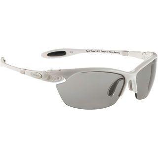 Alpina Twist Three 2.0 VL, white/Lens: varioflex black - Sportbrille