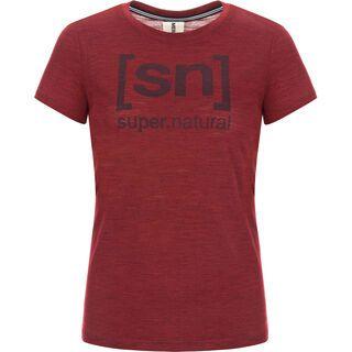 SuperNatural W Essential I.D. Tee, pomegranate - Funktionsshirt