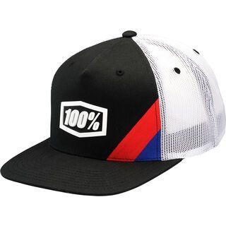100% Cornerstone Snapback Hat, black - Cap