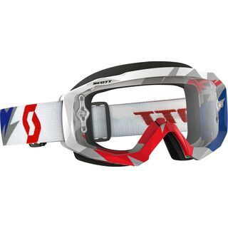 Scott Hustle MX, cracked blue/red clear - MX Brille