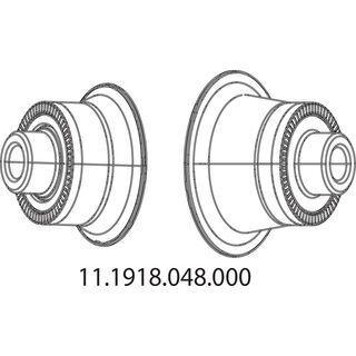 Zipp Endkappen für Nabe 177 Disc, hinten - Achsadapter