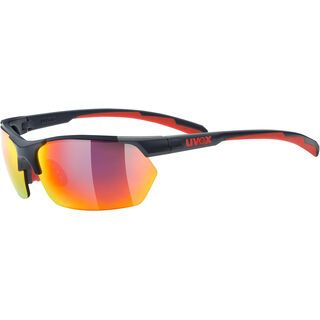 uvex sportstyle 114 inkl. WS, grey red mat/Lens: mirror red - Sportbrille