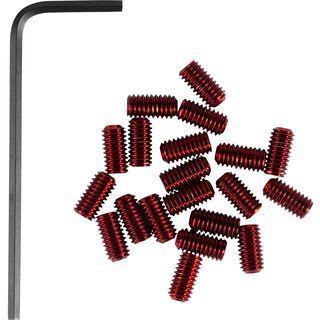 Cube RFR Pedal-Pins Slug, red