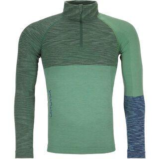 Ortovox 230 Merino Competition Zip Neck M, green isar blend - Unterhemd