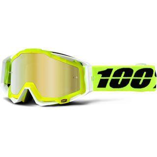 100% Racecraft inkl. Wechselscheibe, solar/Lens: mirror gold - MX Brille