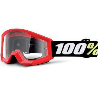 100% Strata Mini, red/Lens: clear - MX Brille
