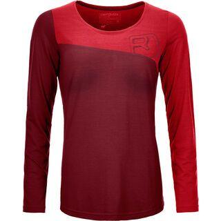 Ortovox 150 Cool Logo Long Sleeve W, dark blood - Funktionsshirt