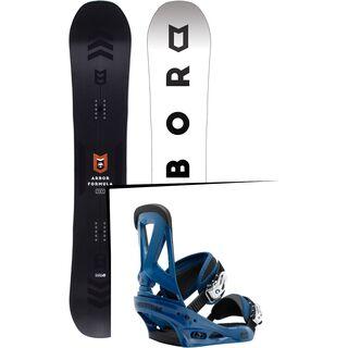 Set: Arbor Formula Mid Wide 2017 + Burton Custom 2017, blue - Snowboardset