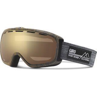 Giro Basis, woodgrain/amber gold - Skibrille