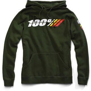 100% Motorrad Hooded Sweatshirt, forest green