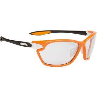 Alpina Twist Four 2.0 VL+, orange matt-white-anthracite/Lens: varioflex+ black - Sportbrille