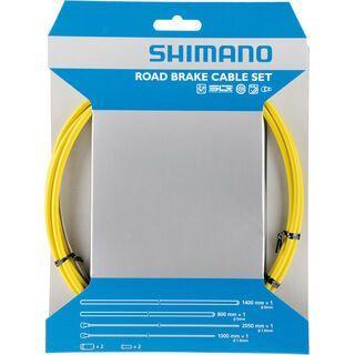 Shimano Bremszug-Set Road Sil-Tec beschichtet, gelb