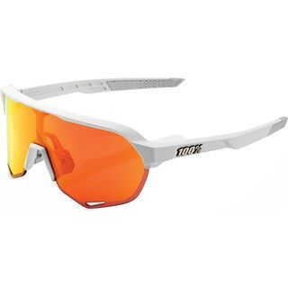 100% S2 inkl. WS, matte off white/Lens: hiper red ml mir - Sportbrille