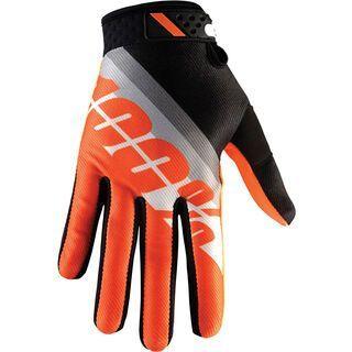 100% Ridefit, slant orange - Fahrradhandschuhe