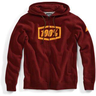 100% Syndicate Full-Zip Hoody, burgundy - Hoody
