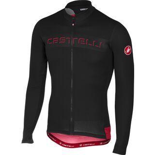 Castelli Prologo V L/S Jersey FZ, black - Radtrikot