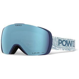 Giro Contact POW inkl. WS, Lens: vivid royal - Skibrille