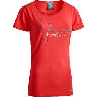 Cube WLS T-Shirt Fichtelmountains, red