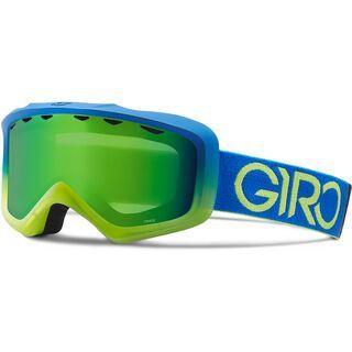 Giro Grade, blue lime dual/Lens: loden green - Skibrille