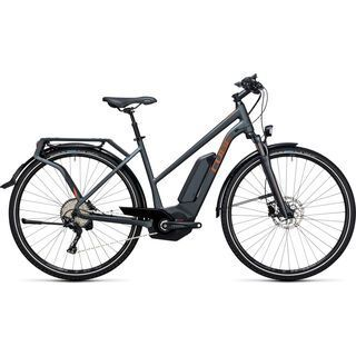 Cube Touring Hybrid EXC 400 Trapeze 2017, grey´n´copper - E-Bike
