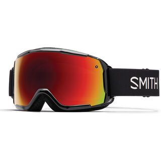 Smith Grom, black/Lens: red sol-x mirror - Skibrille