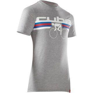 Cube T-Shirt Stripes, grau melange - T-Shirt