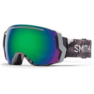 Smith I/O 7 + Spare Lens, cement bleached/green sol-x mirror - Skibrille