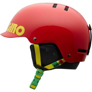Giro Surface S, Red Rasta Color Block - Snowboardhelm