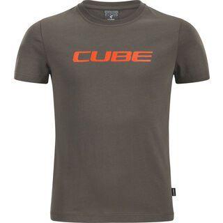 Cube Junior Organic T-Shirt Classic Logo brown