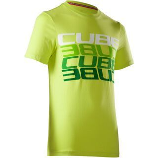 Cube T-Shirt Cube Mirrored Letters, lime
