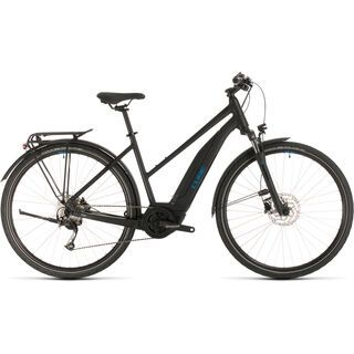 *** 2. Wahl *** Cube Touring Hybrid ONE 500 Trapeze 2020, black´n´blue - E-Bike | Größe 50 cm