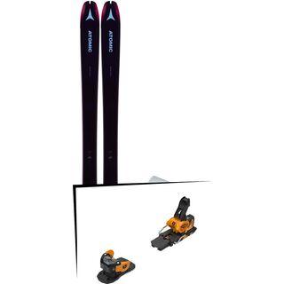 Set: Atomic Backland 85 W + Hybrid Skin 85 2019 + Salomon Warden MNC 13 saffron/black