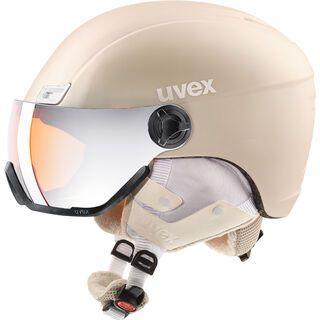 uvex hlmt 400 visor style, prosecco met mat - Skihelm