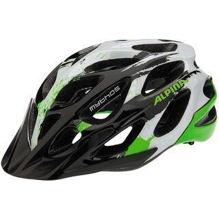 Alpina Mythos 2.0, black white green - Fahrradhelm