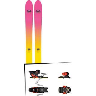 Set: DPS Skis Yvette 112 RP2 Foundation 2018 + Salomon Warden MNC 13 white/black/orange