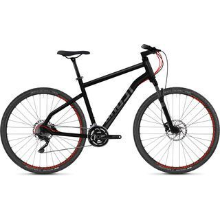 Ghost Square Cross 7.8 AL 2018, black/gray/neon red - Fitnessbike