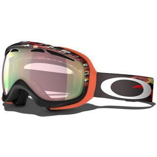 Oakley Elevate, Houndstooth Black/VR50 Pink Iridium - Skibrille
