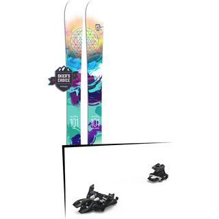 Set: Icelantic Maiden 101 2018 + Marker Alpinist 9 black/titanium