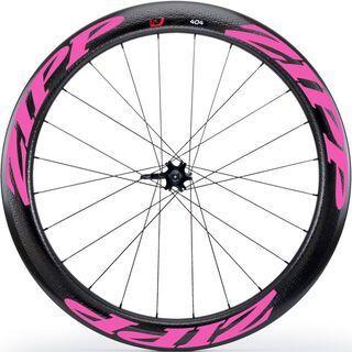 Zipp 404 Firecrest Tubular Disc-brake, schwarz/pink - Vorderrad